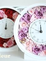 プリザーブドフラワーの贈呈用ギフト 花時計