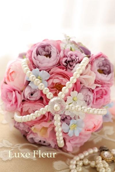 小花が可愛いステッキブーケ
