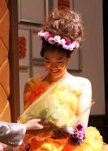 プリザーブドのフラワーアクセサリー 花冠