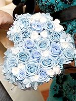 プリザーブドフラワーのブーケ ブルー